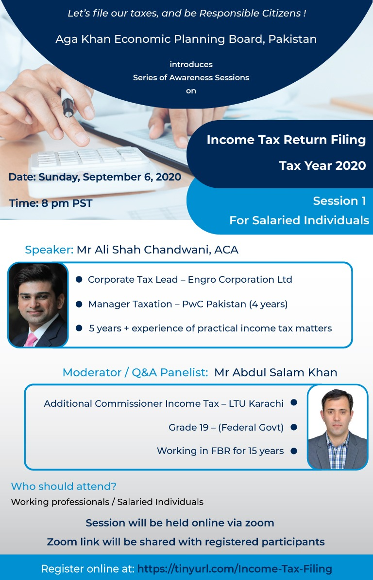 Income Tax Filing for Salaried Individual - 2020