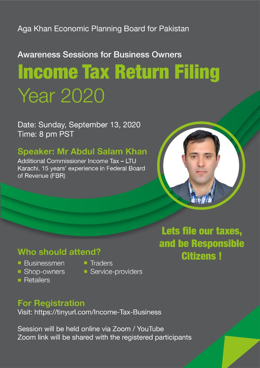 Income Tax Filing for Business Individual - 2020