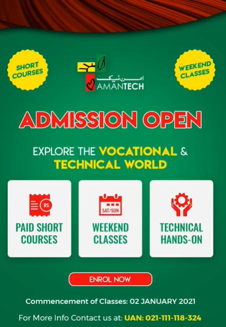 Aman Tech - SHORT WEEKEND COURSE